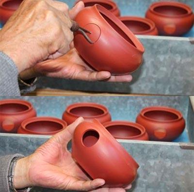 Herstellung einer Kyusu
